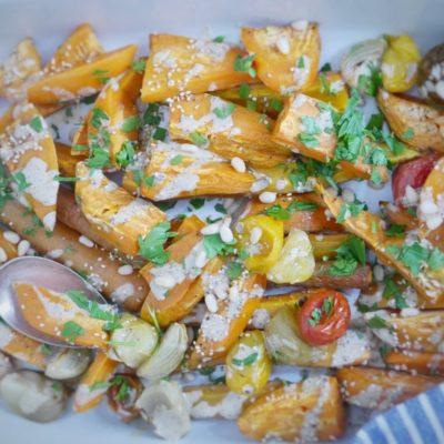 Warmer Süßkartoffelsalat