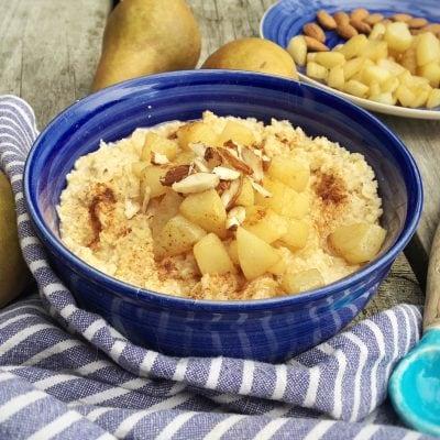 Birnen-Haferfrühstück